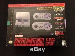 Système De Divertissement Super Nintendo Super Nes Classic Ed Mint Cond With Case