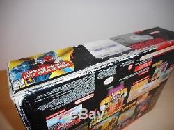 Système Super Nintendo Snes Console Ensemble De Contrôle D'origine Deck Cib Boxed Bundle