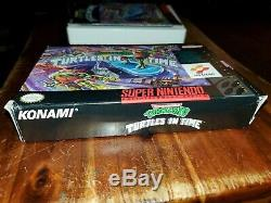 Teenage Mutant Ninja Turtles In Time IV 4 Tmnt Super Nintendo Snes Complète Cib
