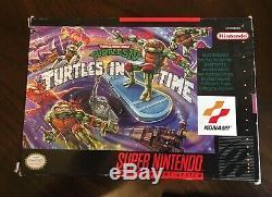 Tmnt Teenage Mutant Ninja Turtles IV Tortues Dans Le Temps Super Nintendo Snes'92 Cib