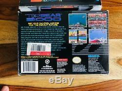 Top Gear 3000 Super Nintendo Snes 1995 Cib Complete Box Manuel Poster Reg 100%