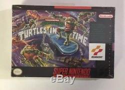 Tortues In Time Snes Super Nintendo Touche Nouvelle Usine Scellee Très Rare Premier Run
