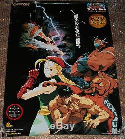Ultra Rare Affiche De Promo Pour Super Street Fighter II Super Famicom Snes Nintendo Sfc