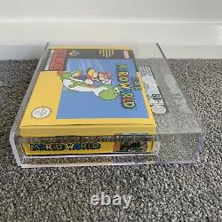 Vga Graded 80+ Nm Super Mario World Super Nintendo (snes), Aus, Pal Jeu