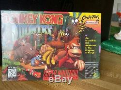 Vintage Donkey Kong Country (super Nintendo Snes) Nouveau Scellés Unopened