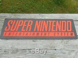 Vintage Retro Original Super Nintendo Snes Video Game Magasin Signe De Publicité