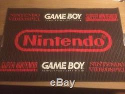 Vintage Retro Store Affichage Publicitaire Signe Nintendo Gameboy Super Snes Nda