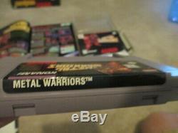 Warriors Métal (super Nintendo Snes) Cib Complète Avec L'affiche + Walkthrough