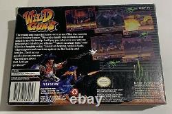 Wild Guns Super Nintendo Snes Cib Complètent Une Excellente Condition Très Rare