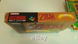Zelda Gold Pack Super Box Super Graal Super Nintendo Snes Original